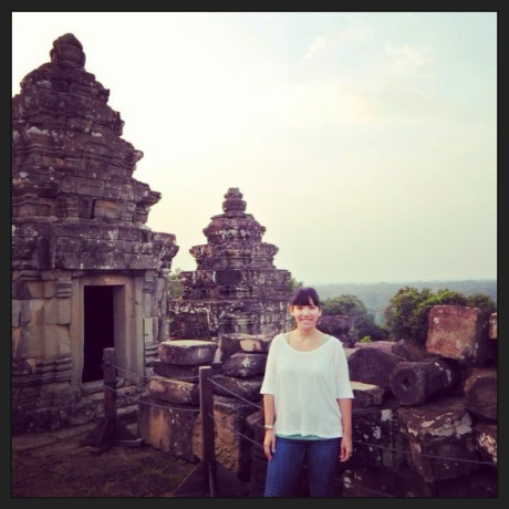 Andy in Angkor, Cambodia, October 2013