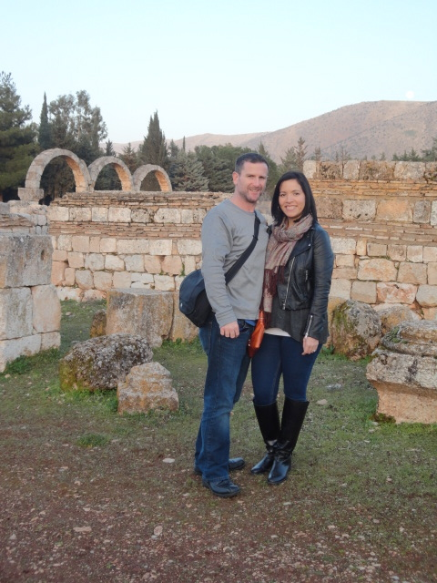 Steve and Andy in Anjjar, Lebanon, February 2013