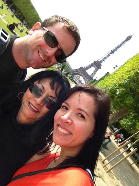 Steve, Debbie, and Andy in Paris, June 2013