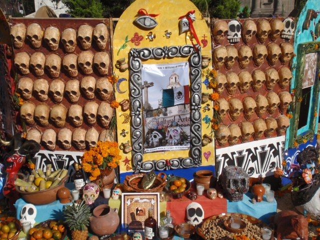 Day of the Dead celebrated in the streets of Mexico City