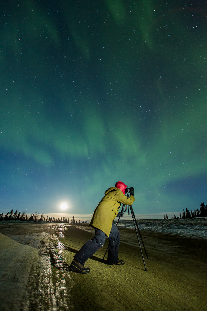 Taking photos of the northern lights in Fairbanks, Alaska