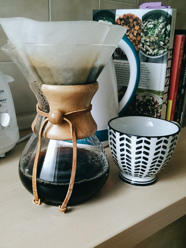 Long morning drinking coffee at home and catching up on my blog reader made better only by my Chemex which hasn't seen the light of day in several months.
