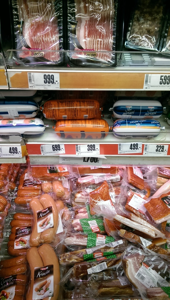 Lots of packaged mystery meat